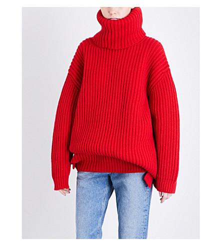 BALENCIAGA Turtleneck wool jumper (Rouge