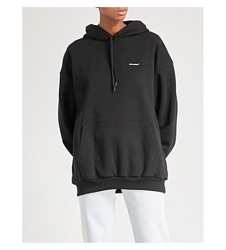 BALENCIAGA Logo-print cotton-jersey hoody (Noir