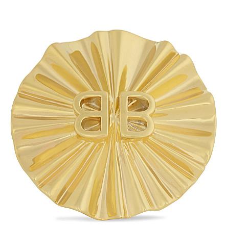 BALENCIAGA Licence round oversized ring (Or+jaune