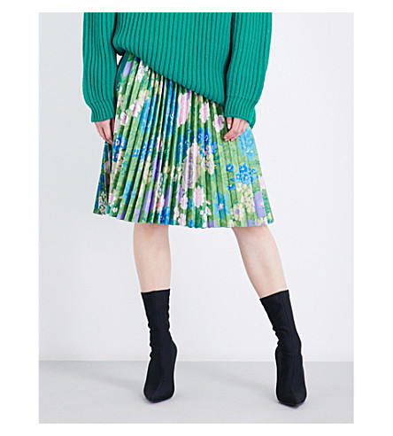 BALENCIAGA Tubular pleated skirt (Vert
