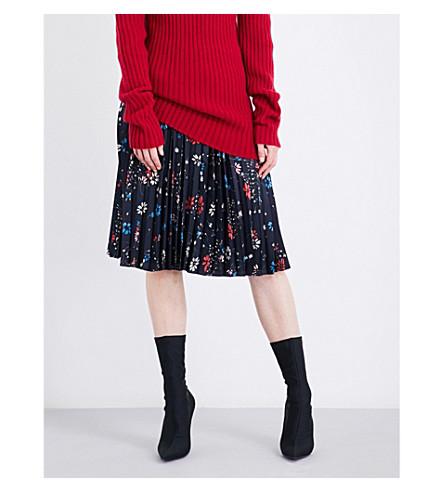 BALENCIAGA Tubular pleated skirt (Navy