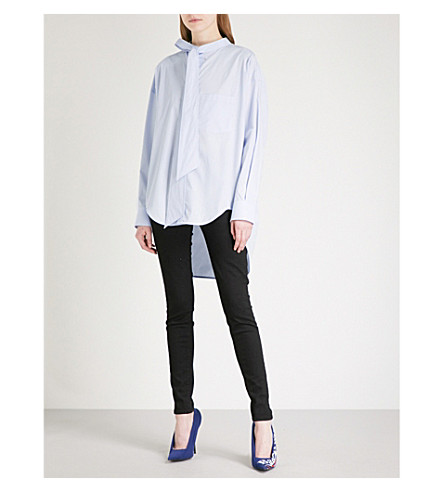 BALENCIAGA Swing logo-print cotton shirt (Givre