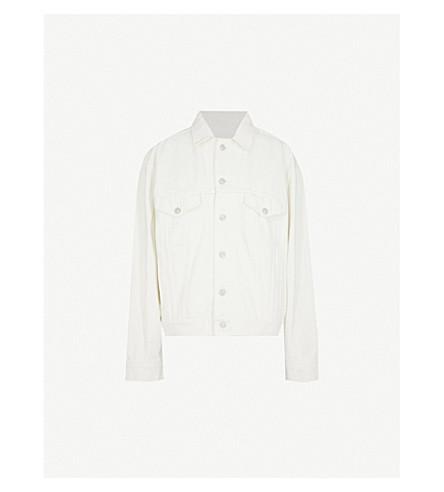 BALENCIAGA Like A Man logo-print denim jacket (Stone+bleach