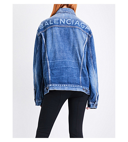 BALENCIAGA Like A Man oversized denim jacket (Medium+vintage+blue