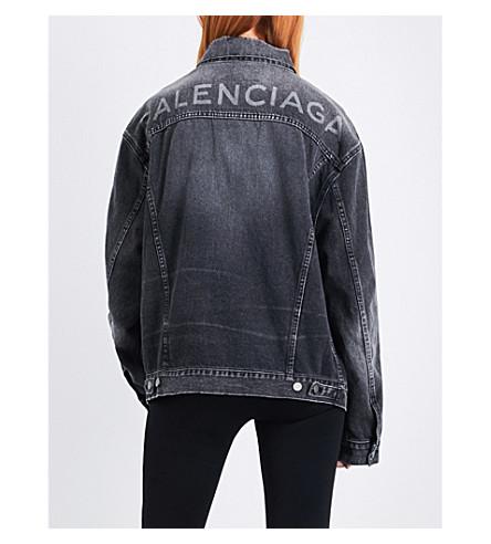 BALENCIAGA Like A Man oversized denim jacket (Vintage+black