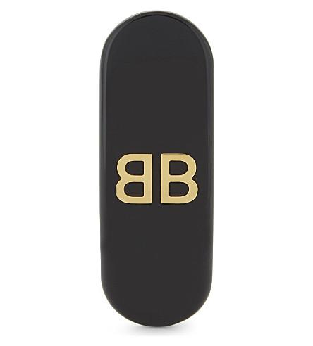 BALENCIAGA Logo long clip-on earring (Noir