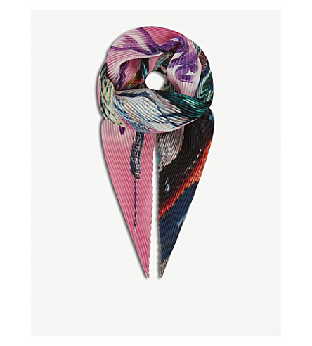 BALENCIAGA New York City silk scarf (Roseate/light+purple