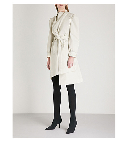 BALENCIAGA Feminin Pulled cotton jacket (Calcaire