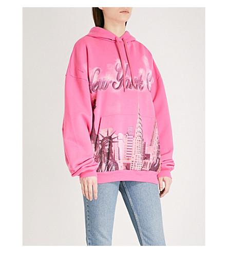 BALENCIAGA New York City cotton-jersey hoody (Rose