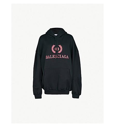 BALENCIAGA Cocoon logo-print cotton hoody (Noir