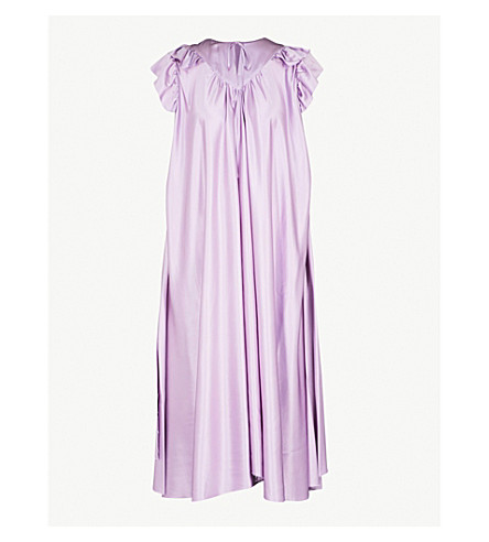 BALENCIAGA Fluid satin midi dress (Mauve