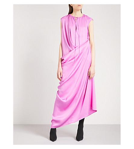 BALENCIAGA Multi-style silk-twill gown (Sirop