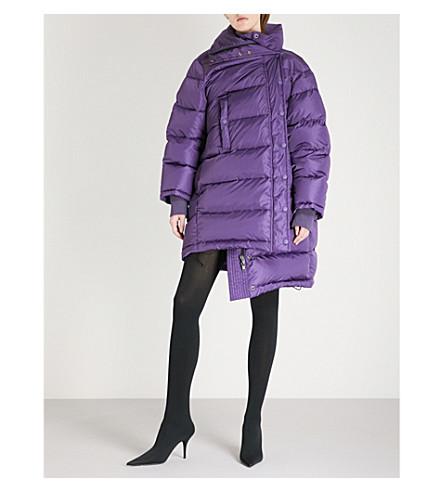 BALENCIAGA Pulled shell puffer jacket (Violet