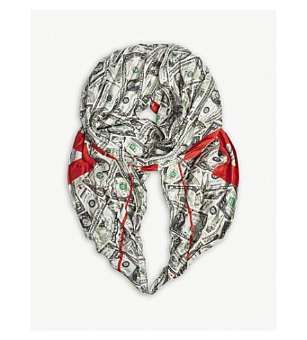 BALENCIAGA - Logo dollar bill silk scarf  0d3d12f6d16f