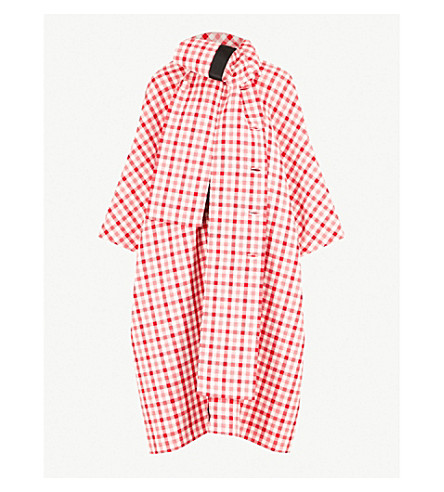 BALENCIAGA Cristobal checked wool-blend coat (Red/white