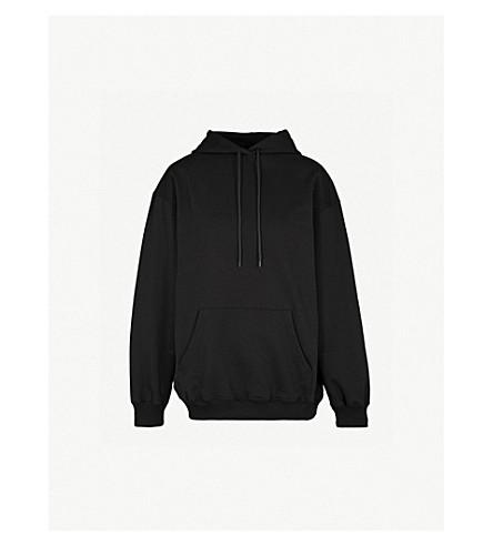 BALENCIAGA Logo-print cotton-jersey hoody (Black