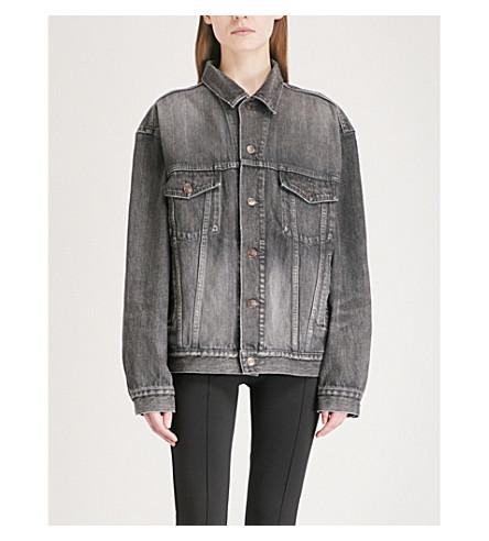 BALENCIAGA Like A Man denim jacket (Dirty+vintage+black