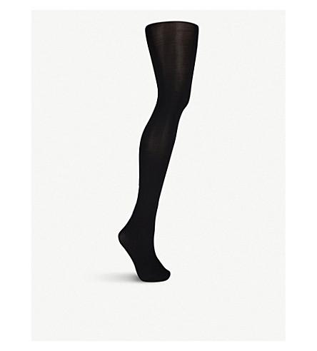 BALENCIAGA Logo crystal-embellished tights (Black/blue