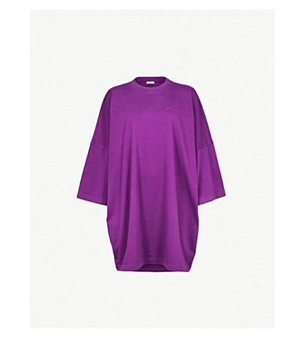 BALENCIAGA 标识刺绣平纹针织棉 T 恤 (紫外线