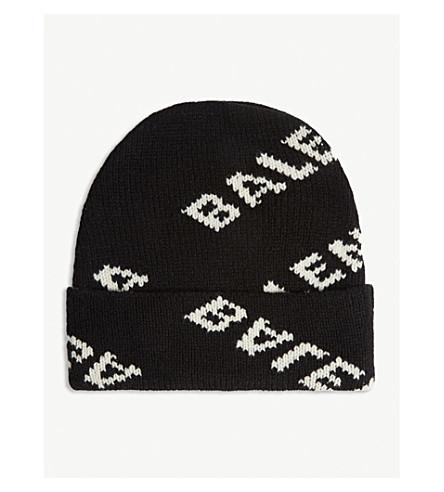 BALENCIAGA - Logo intarsia wool-blend beanie  b1e5bbe61603