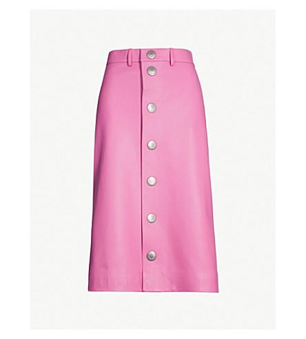 BALENCIAGA Button leather skirt (Pink