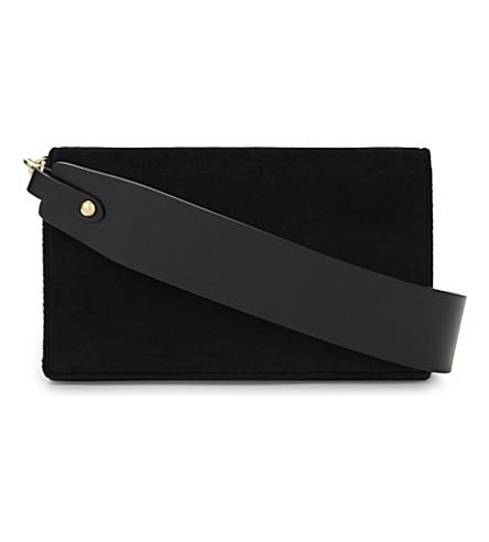 DIANE VON FURSTENBERG Soirée velvet cross-body bag (Black