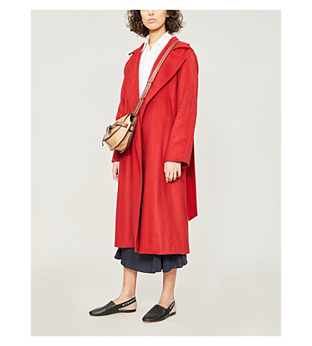 MAX MARA Manuela camel-hair wrap coat (Red