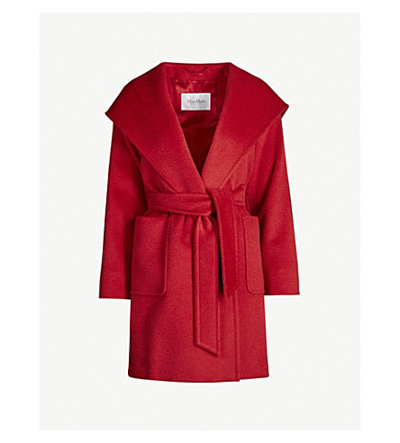 MAX MARA Rialto hooded camel hair coat (Red