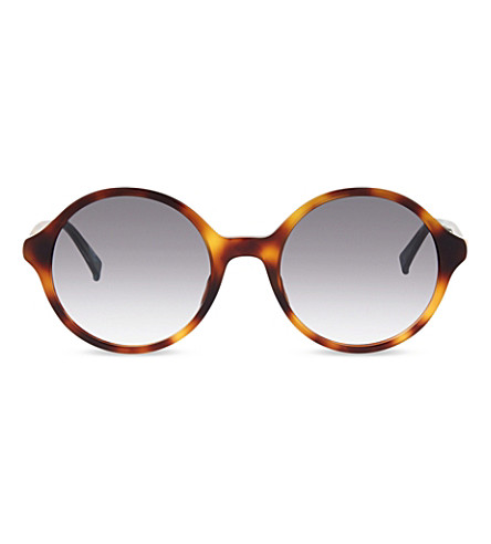 MAX MARA Light4 round-frame sunglasses (Green avana