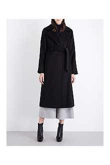 MAX MARA Classic wrap black coat