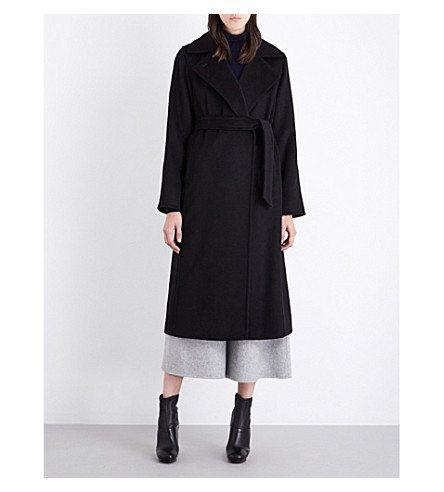 MAX MARA Manuela camel-hair wrap coat (Black