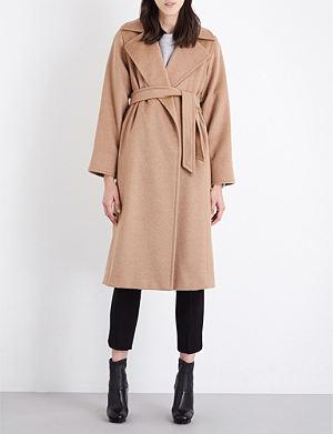 MAX MARA Classic wrap camel coat