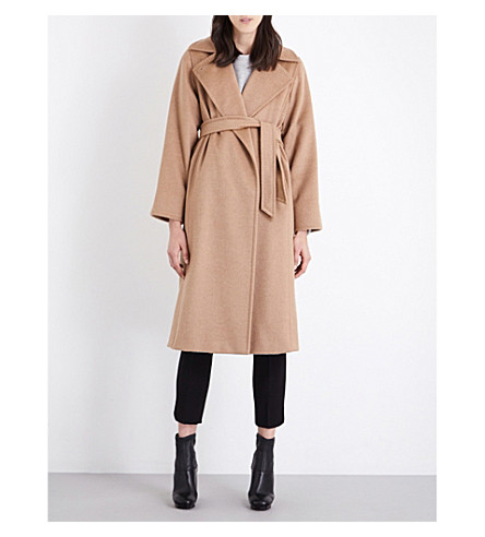 MAX MARA Manuela camel-hair wrap coat (Camel