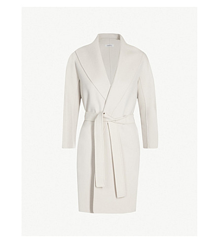 S MAX MARA Messi wool wrap coat (Sand white