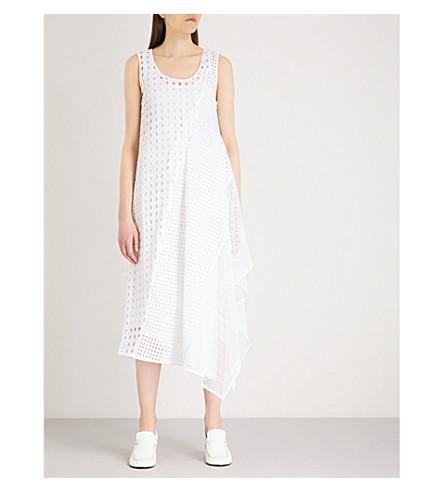 SPORTMAX Abatina asymmetric cotton dress (Optical white