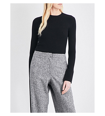 SPORTMAX Acca ribbed-knit jumper (Black
