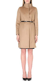 MAX MARA STUDIO Cashmere-blend funnel neck coat