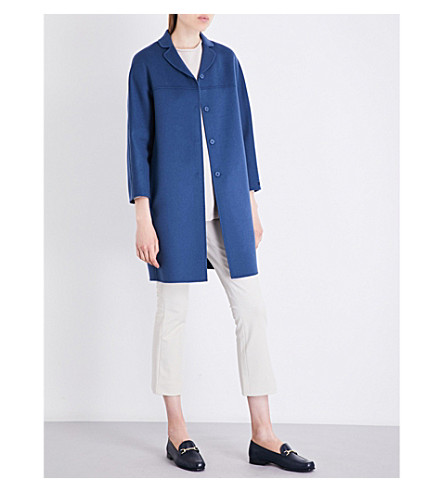 S MAX MARA Ada wool coat (Cornflower+blue
