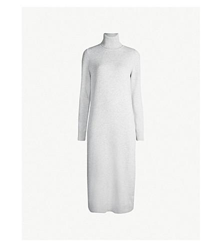 MAX MARA Agio roll-neck wool and cashmere dress (Pearl grey