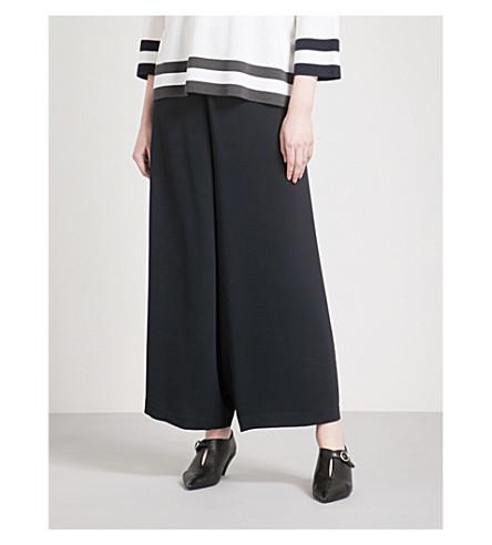 MAX MARA 前宽腿梭织裙裤 (海军