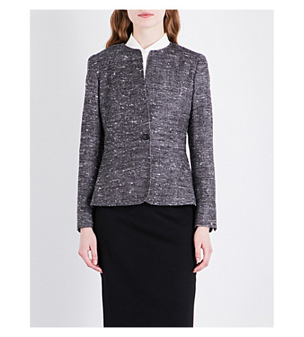MAX MARA Aire hopsack weave wool-blend jacket (Grey