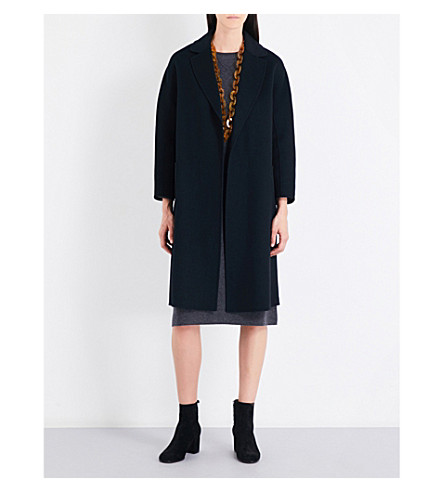 S MAX MARA Alato self-tie wool coat (Black
