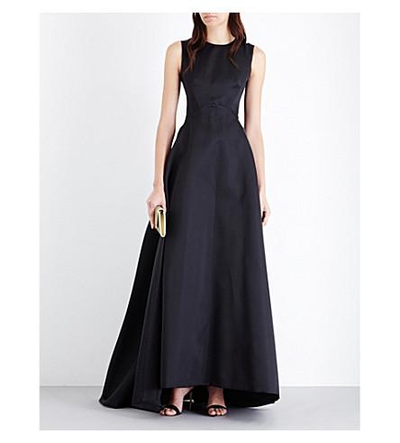 MAX MARA ELEGANTE Albina satin gown (Black