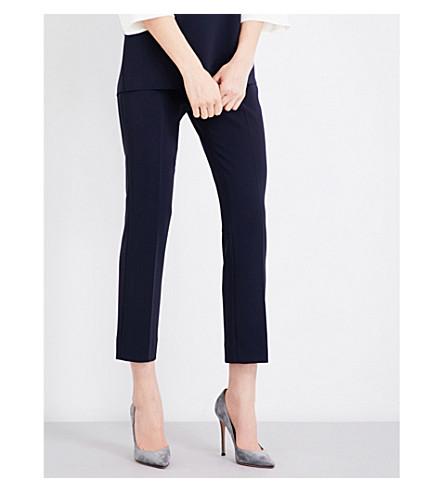 MAX MARA Alcano straight crepe trousers (Navy
