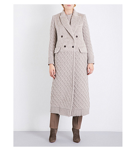 MAX MARA Alda wool and cashmere-blend and alpaca and wool-blend coat (Beige