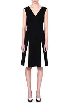 SPORTMAX Alea pleat contrast dress