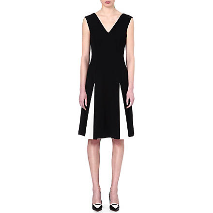 SPORTMAX Alea pleat contrast dress (Black