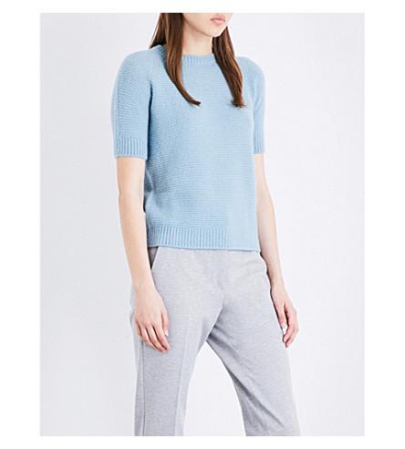 MAX MARA Aleska cashmere and silk-blend jumper (Blue
