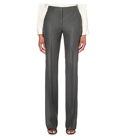 MAX MARA Slim-fit straight-cut suit trousers (Dark+grey