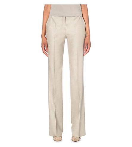 MAX MARA Alessia wide-leg trousers (Beige
